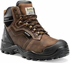 Buckler BSH009BR Waterproof Anti-Scuff Safety Work Boots Brown (Sizes 6-13) Mens