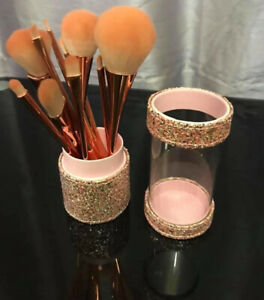 Make Up Pink Sparkly Brush Holder