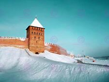 PHOTOGRAPH LANDMARK BRICK FORTRESS NOVGOROD RUSSIA ART PRINT POSTER MP5582A