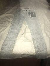 Guess Women's Natural Milk Snake Foil Print Brittney Skinny Jean Size 27