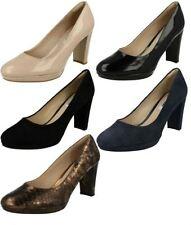 Clarks Standard (D) Width Block Court Heels for Women