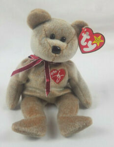 Mint Rare 1999 Signature Bear Ty Beanie Baby PE Pellets Tag Errors PE Pellets
