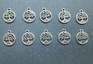 10 x Tree of Life Charms, 18 x 15 mm, Keyrings, Jewellery Making, UK Seller