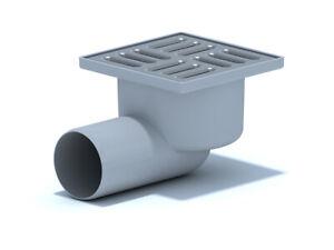 Bodenablauf Edelstahl DN50 100x100 mm Abgang Waagerecht Duschablauf Badablauf