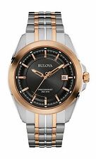 Bulova UHF Precisionist Men's 98B268 Quartz Black Dial Bracelet 43mm Watch