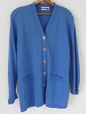 San Remo Cardigan Sweater Royal Blue Acrylic Blend Size Large
