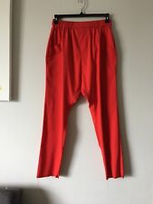 NWT $695 BAJA EAST RED DROP CROTCH HAREM TAPERED LEG PANTS SIZE 2 MADE IN USA