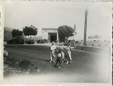 PHOTO ANCIENNE - VINTAGE SNAPSHOT - NICE BELVEDERE VOITURE MODE FAMILLE RUE 1935
