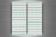 Set 280 x sticker adesivo adesivi alfabeto numero scrapbooking lettere r5