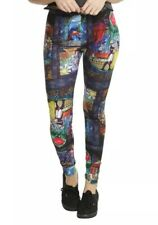Disney Beauty And The Beast Stained Glass Leggings Size Small