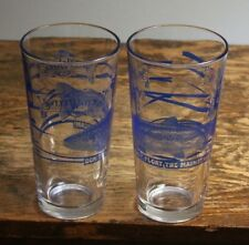 """2 Sweetwater Brewing Company 6 7/8"""" tall beer glasses Libbey Duratuff; trout"""