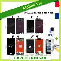 VITRE TACTILE IPHONE 6/6 Plus/6S/6S Plus NOIR OU BLANC +ECRAN LCD RETINA +OUTILS