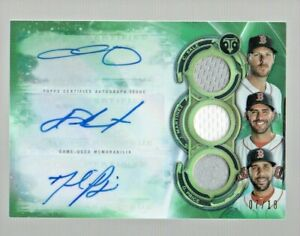 2019 Topps Triple Threads Autograph Relic Combo Sale Martinez Price Red Sox 7/18
