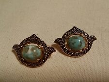 Sarah Coventry Marble Faux Tone Clip On Earrings