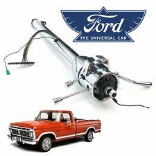 """1967-79 Ford F-Series Truck 33"""" Chrome Tilt Steering Column Shift ranch F-100 V8"""