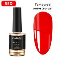 CoKEKOU 14ml UV LED Gel Soak Off  One Step Nail Gel Polish No Need Top Base Coat