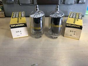 2 NOS Sylvania USA 6JF6 6JU6 6KM6 Vacuum Tubes New In Box Guaranteed!