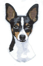 Toy Fox Terrier Dog Breed Bathroom Set Of 2 Hand Towels Embroidered