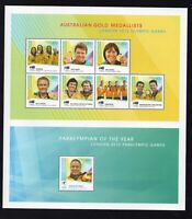 2012 AUSTRALIA OLYMPIC GAMES GOLD MEDAL WINNERS mnh SOUVENIR SHEET - yearbook