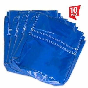 50 Lb 10 Blue Vinyl Sand Bag Cover Anchor Canopy Tents Inflatable Bounce Houses