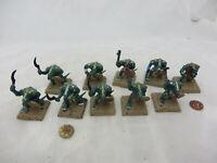 Warhammer Lizardmen Seraphon Saurus warriors army lot oop painted