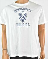 Polo Ralph Lauren Mens T-Shirt New XL White Classic Fit University Polo Summer