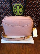 25746e3f60bd NWT TORY BURCH  498 DARK PINK QUARTZ ALEXA CAMERA SHOULDER BAG
