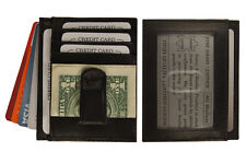 Men's Leather Slim Money Clip Front Pocket Wallet Thin Credit Card Holder New