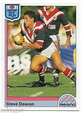 1992 NSW Rugby League REGINA Base Card (111) Steve DEACON Roosters