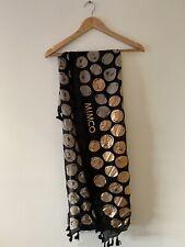 Mimco Black/Tan/Rose Gold Spot Print Scarf/Shawl - New (rrp $99.95)