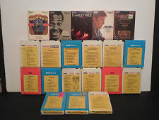 8 Track Tape Lot of 20 1960's Car Stereo Mix All RCA Chevy Ford Dodge Cadillac