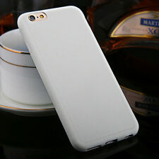 Ultrathin TPU Leather Grain Soft Phone Case Cover Skin For iPhone 5 6 6s Plus CA