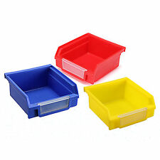 Blue/Red/Yellow Plastic Quantum Storage Systems Ultra Stack and Hang Bins Choose