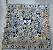 Very Early 1930's Mickey & Minnie Mouse Carpet - Extremely Rare - One-Of-A-Kind?