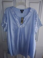 Philosophy By Republic Woman Eyelet Sleeve Blouse Plus Size 3X NWT