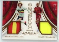 2017 Marouane Fellaini Vincent Kompany 15/25 Patch Panini Immaculate Doubles