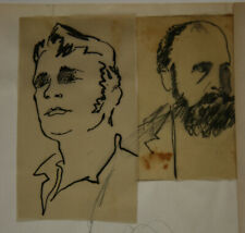 E.KLEPPER (1906-1980), Porträts zweier Männer, um 1960, Tusche