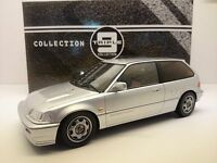 HONDA Civic EF9 CRX CR-X SiR VTEC Coupe 1990 silber Triple9 IXO Metall 1:18