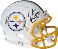 Minkah Fitzpatrick Steelers Signed Flat White Alternate Revolution Mini Helmet