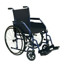 Carrozzina disabili pieghevole - Sedia a rotelle anziani pedane regolabili Wimed