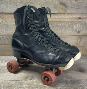 Vtg 1952 Betty Lytle - Styled by HYDE -  Roller Skates, Men's 8, Chicago Plates