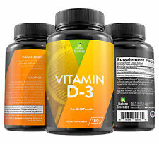 Vitamin D3 5000 IU Dietary Supplement By Naturo Sciences - 180 Softgels