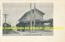 Pennsylvania RR Avondale PA station 8½x11 PC repro
