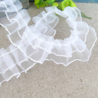 Vintage Style Lace Ribbon Trimming Bridal Wedding Net Trim Scalloped Edge 20mm by Accessories Attic Baby Blue