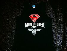 MAN OF STEEL WB MOVIE WORLD GOLD COAST SINGLET TANK MUSCLE AWESOME MENS SUPERMAN