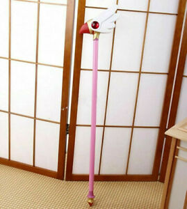 Card Captor Sakura Magic Wand Stick Cosplay Props Kinomoto Bird Cane Gift 78CM
