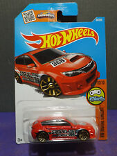 HOT WHEELS SUBARU WRX STI, 2016 HW DIGITAL CIRCUIT Series No.# 10/10 LONG CARD..