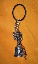 Lord Ganesha Handmade Tibetan Bell Handmade Key Chain Car Home Key Ring Am17
