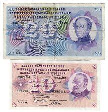 svizzera 10 francs 1963 + 20 francs 1970 LOTTO 1447
