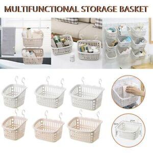 Storage Box Plastic Hanging Shower Basket with Hook Home Closet Storage Box